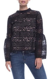 English Factory Lace Bell-Sleeve Top - Product Mini Image