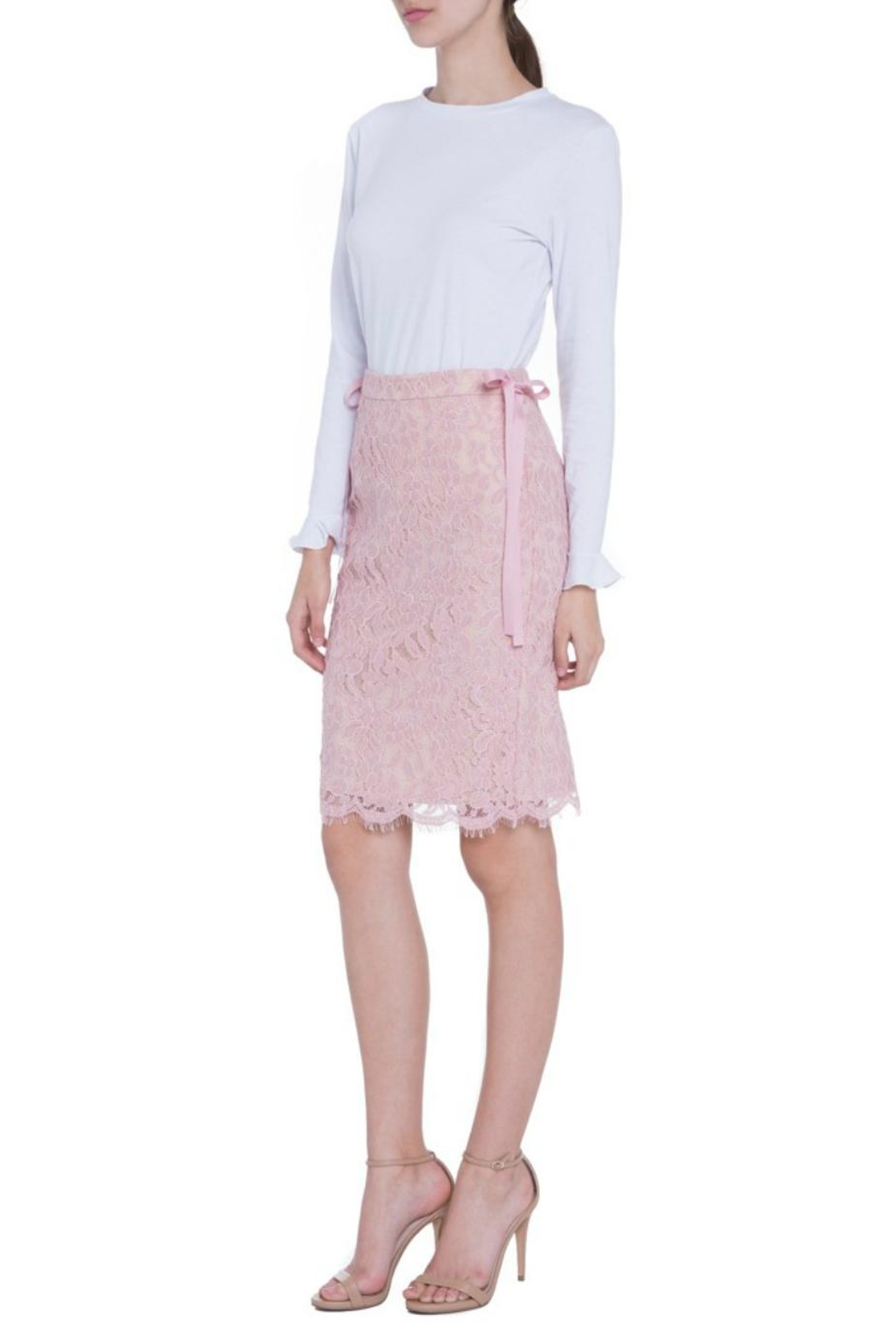 English Factory Lace Pencil Skirt - Front Full Image