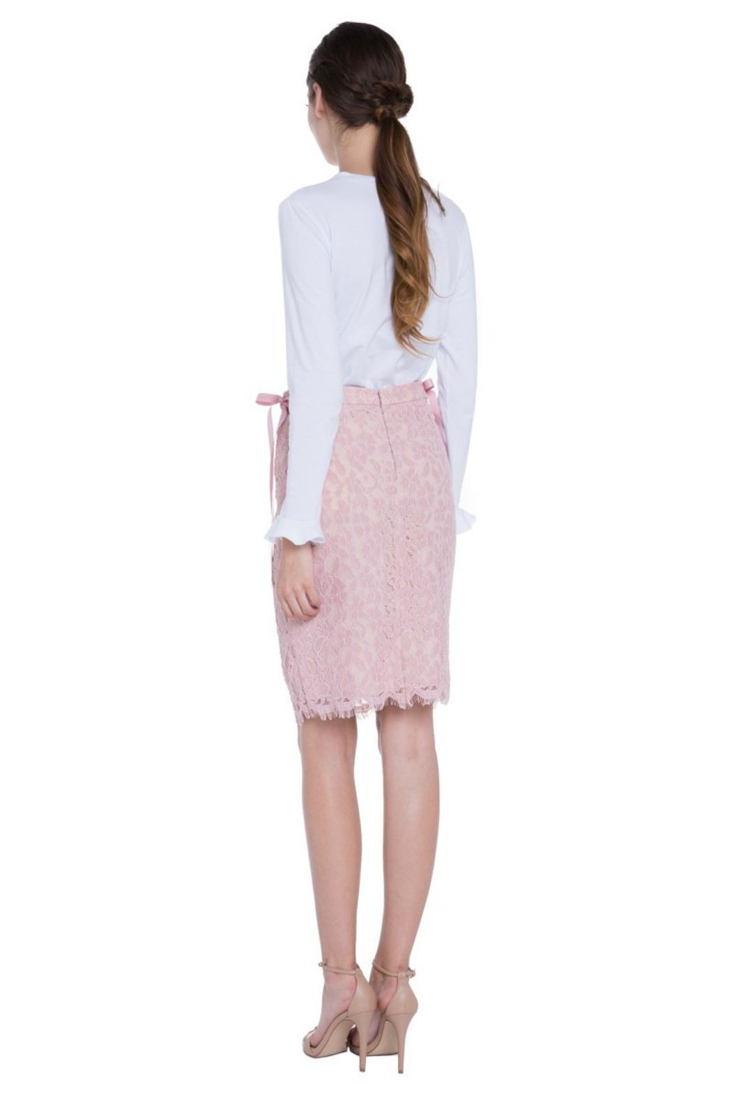 English Factory Lace Pencil Skirt - Side Cropped Image