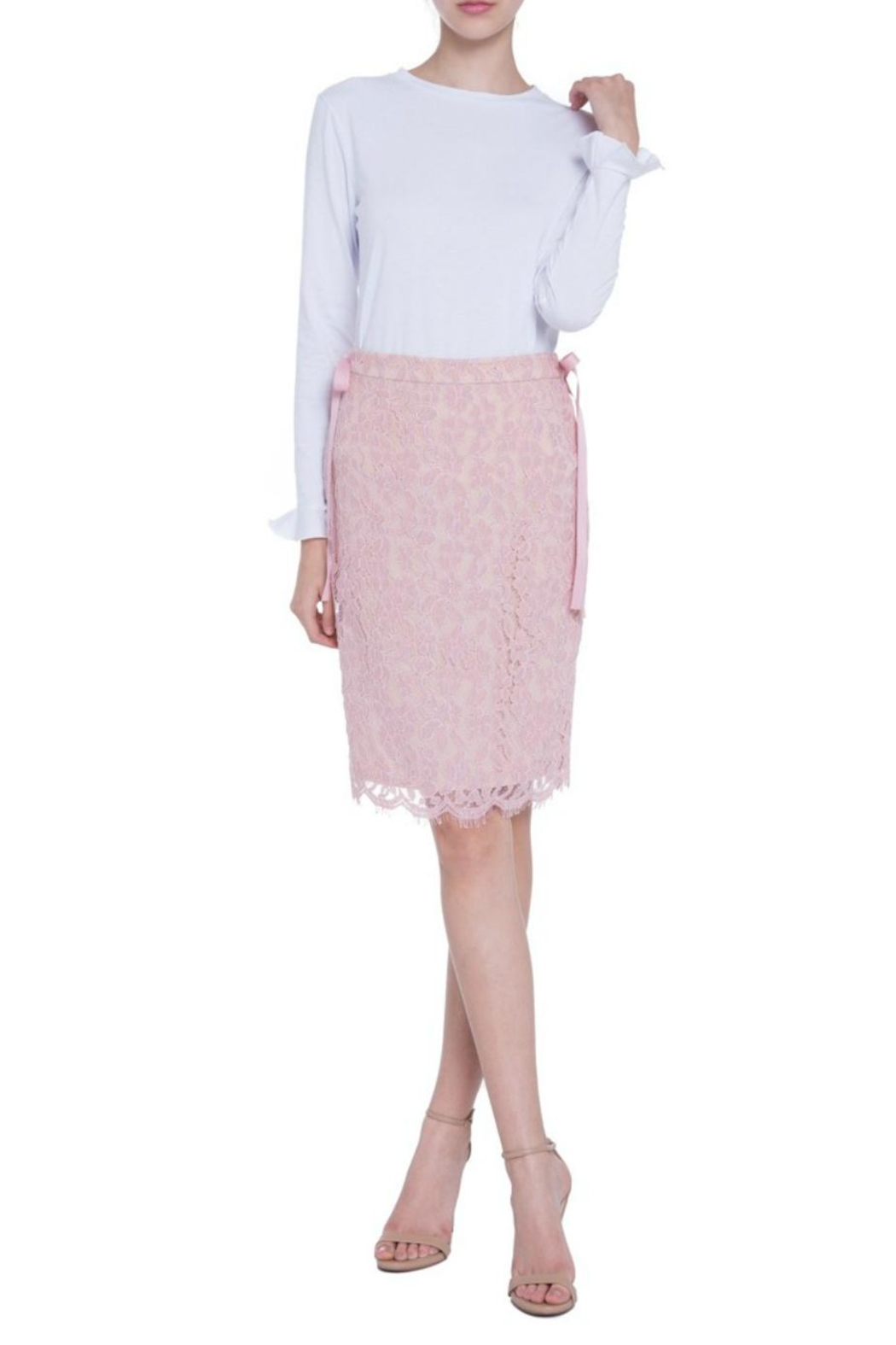 English Factory Lace Pencil Skirt - Main Image