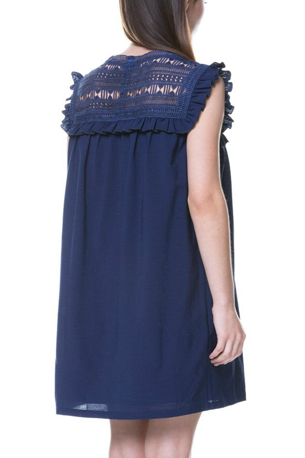 English Factory Lace Yoke Dress - Front Full Image