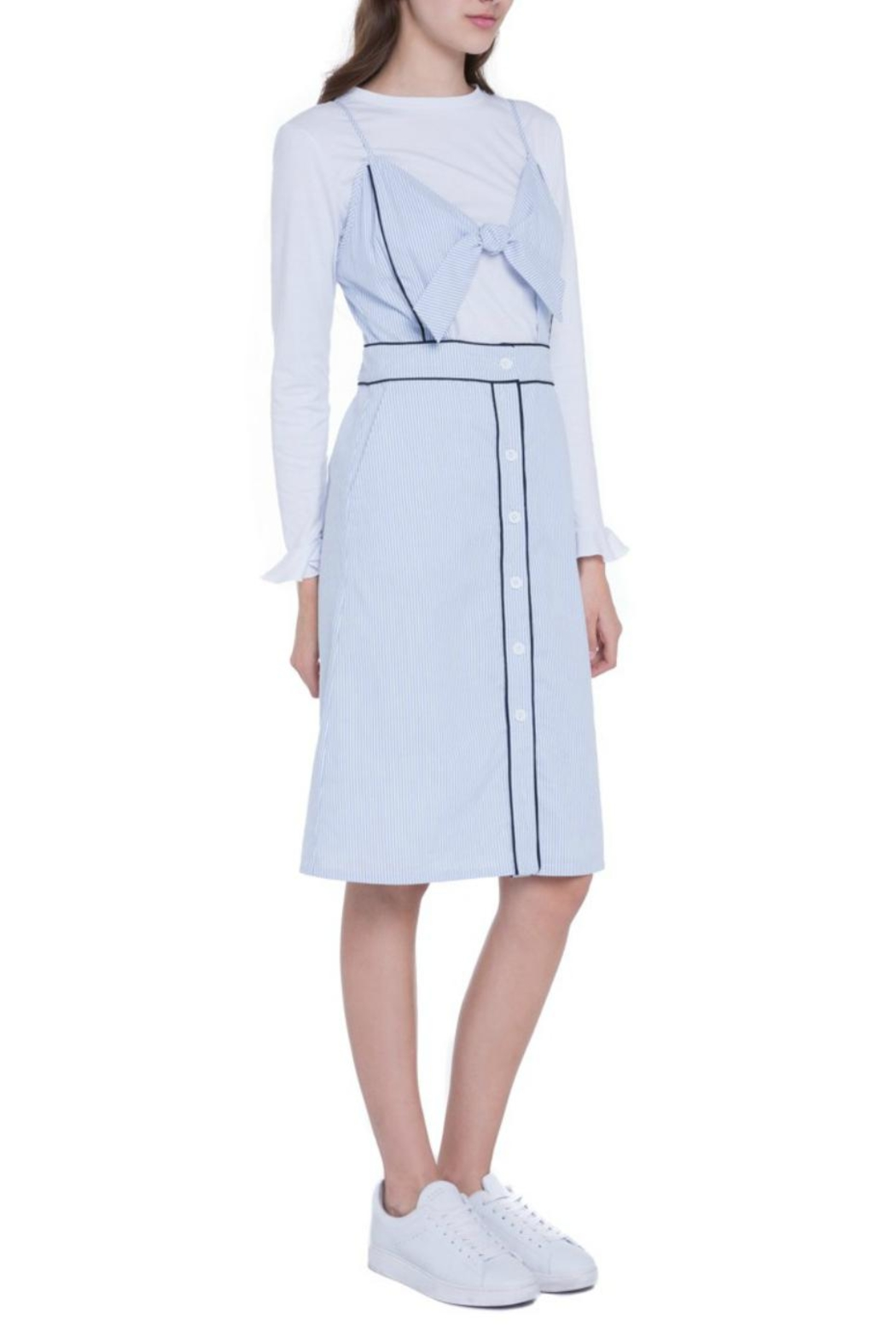 English Factory Layered Woven Dress - Side Cropped Image