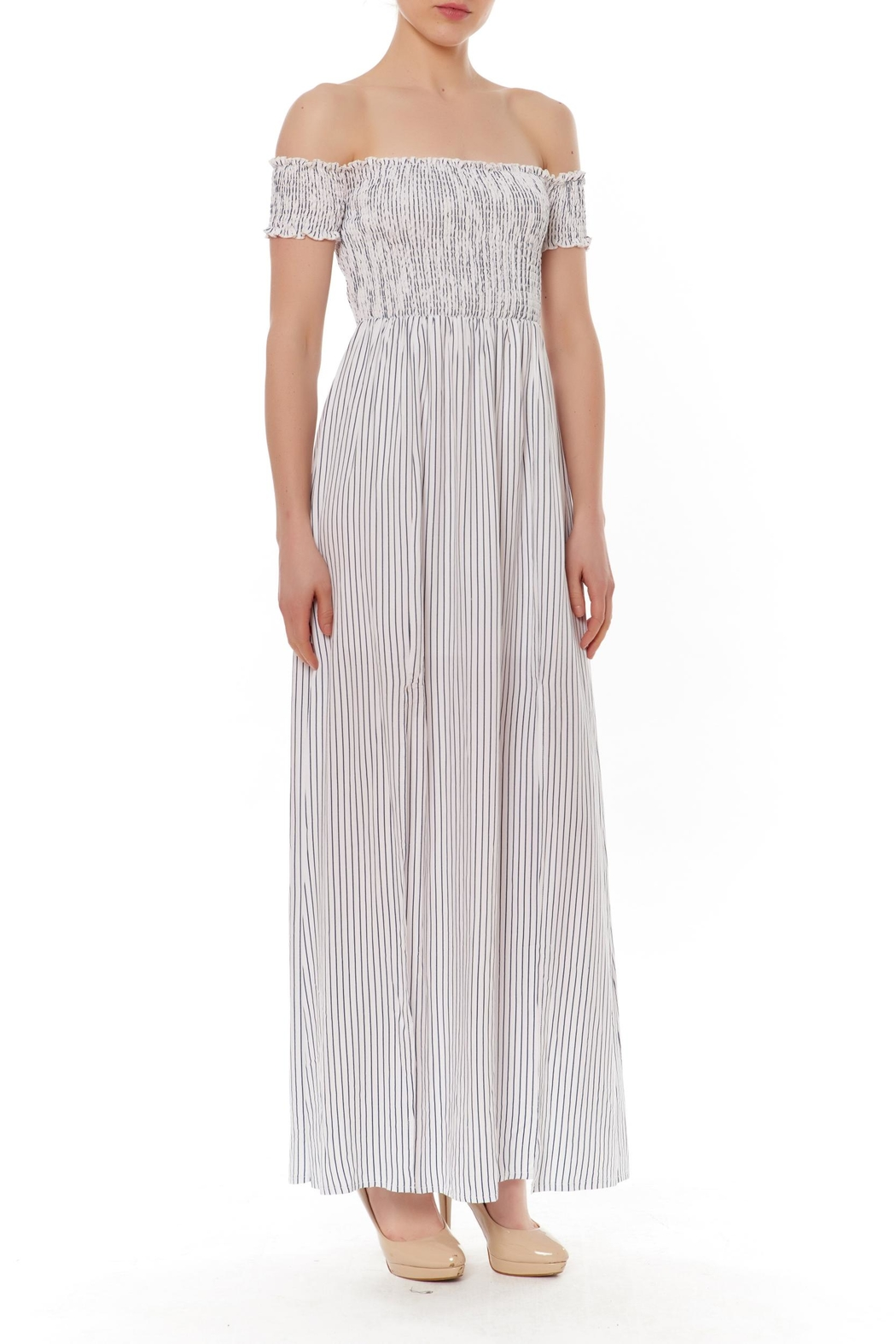 English Factory Off-Shoulder Maxi Dress - Front Cropped Image