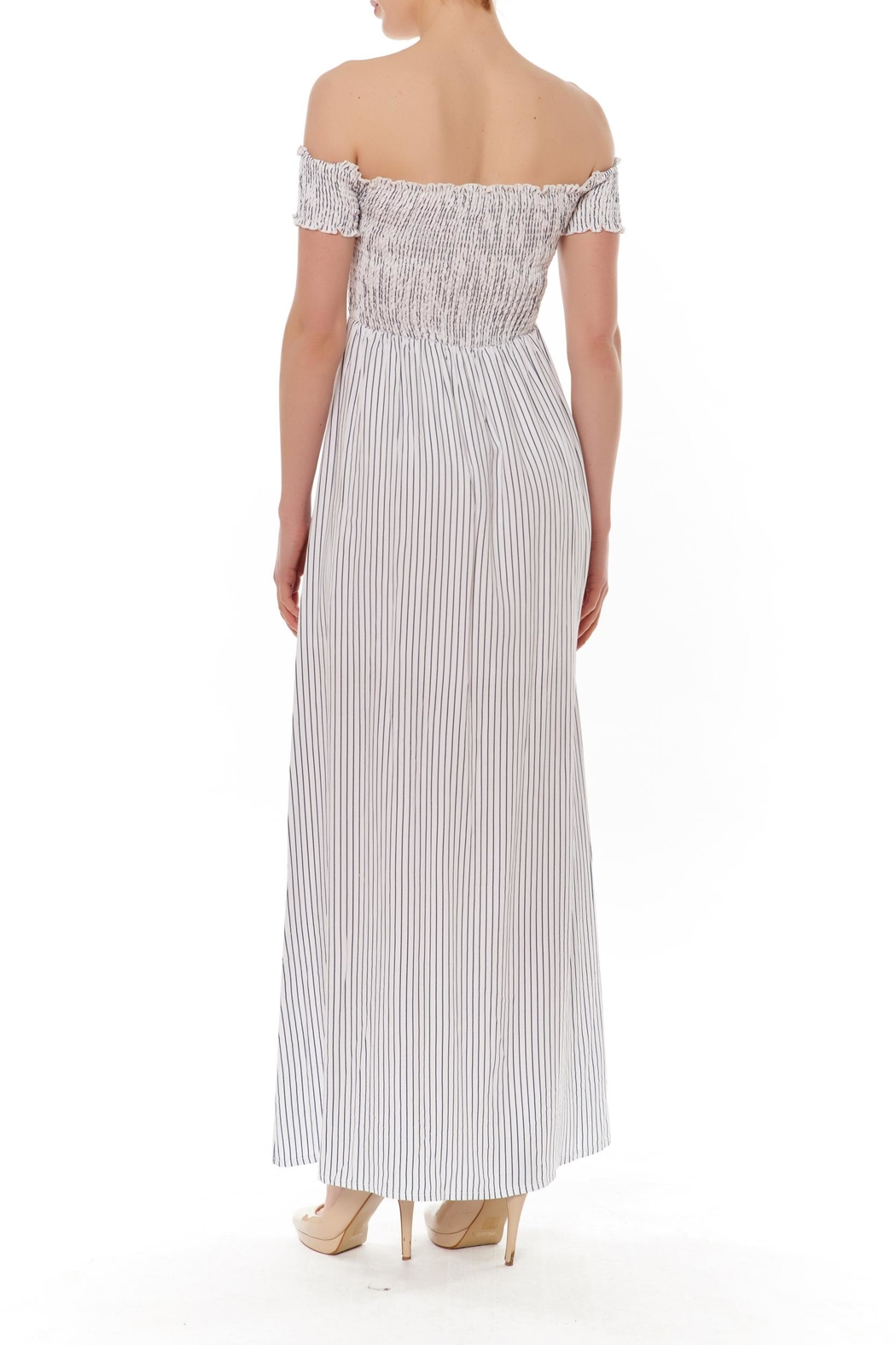 English Factory Off-Shoulder Maxi Dress - Front Full Image