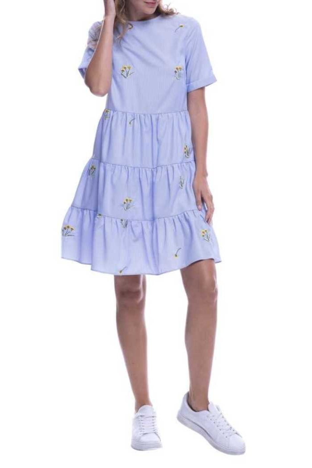 English Factory Periwinkle Dress - Front Full Image
