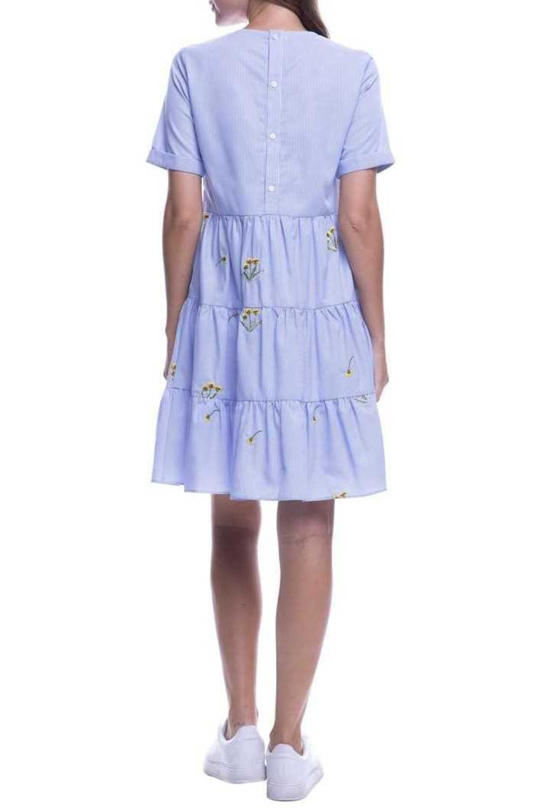 English Factory Periwinkle Dress - Side Cropped Image