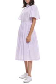 English Factory Pink Striped Shirtdress - Front full body