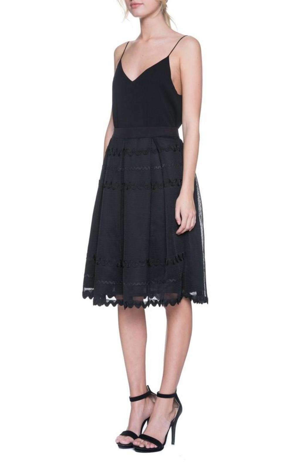 factory pleated midi skirt from virginia by mod