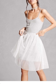English Factory Ribbed-Knit Tulle Dress - Product Mini Image