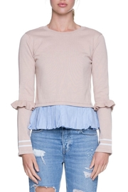 English Factory Ruffle Contrast Knit - Front cropped