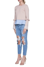 English Factory Ruffle Contrast Knit - Side cropped