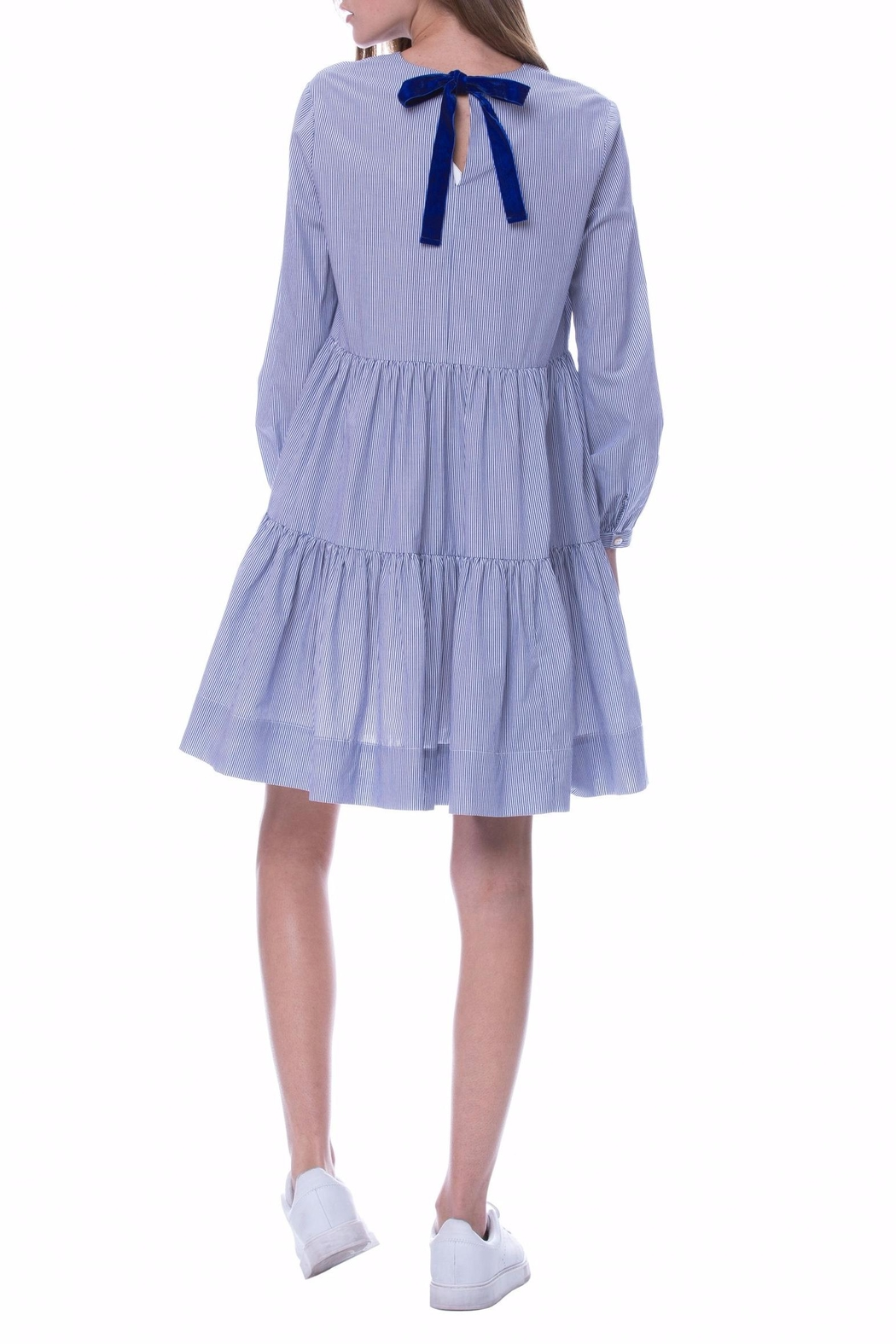 English Factory Ruffle Tiered Dress - Side Cropped Image