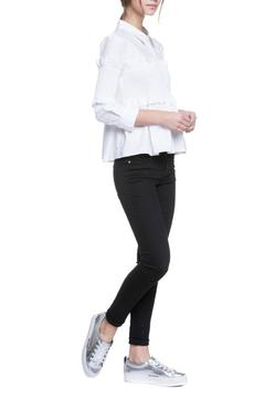 English Factory Ruffled Button Down Blouse - Alternate List Image