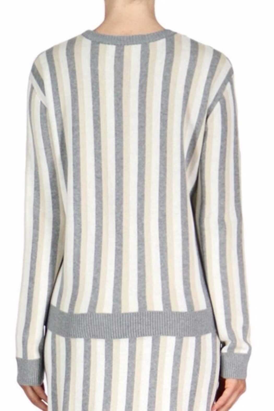 English Factory Stripe Sweater - Front Full Image