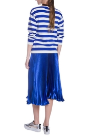 English Factory Striped Bow Sweater - Back cropped