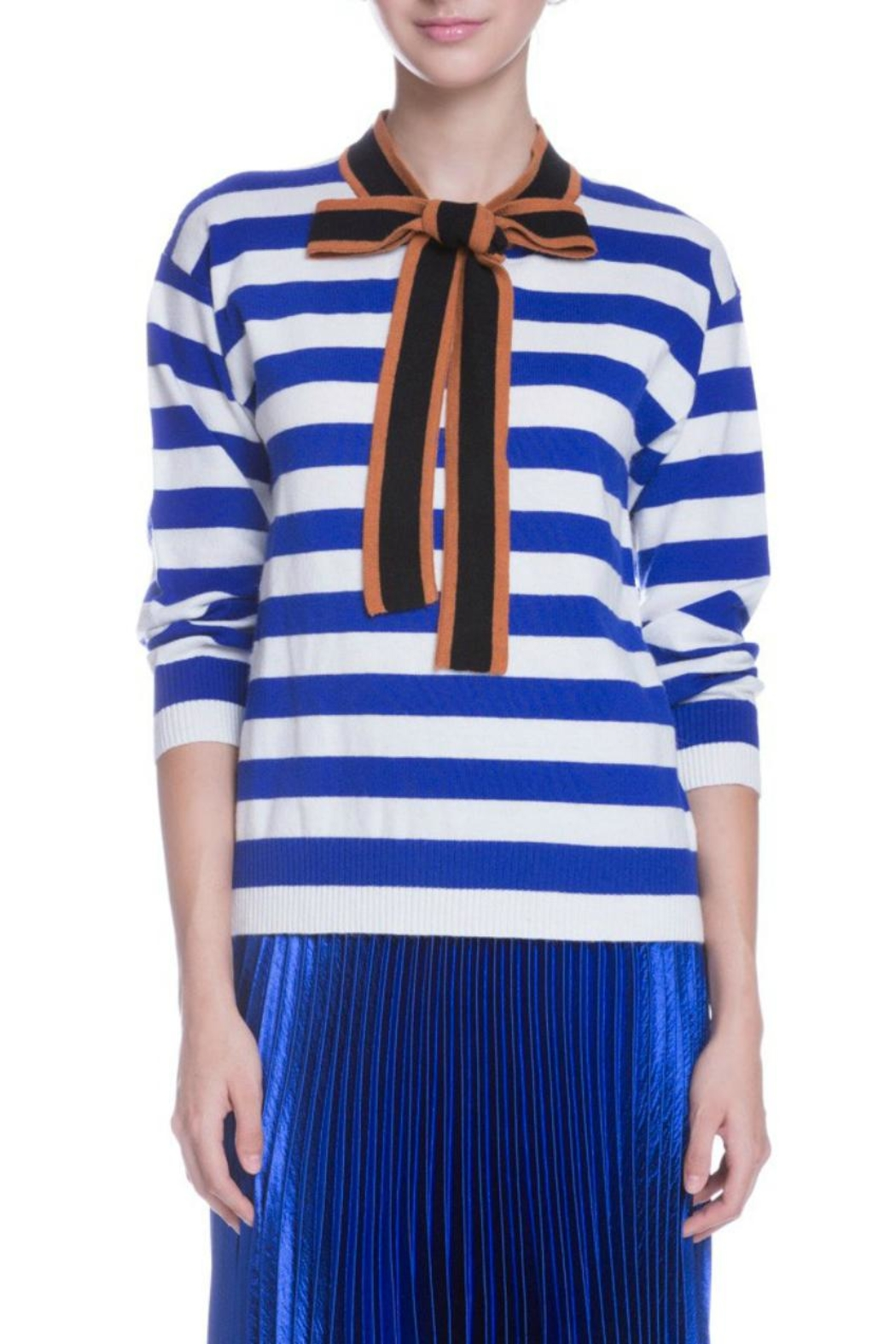 English Factory Striped Bow Sweater - Main Image