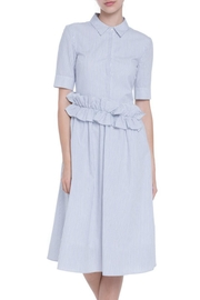 English Factory Striped Midi Dress - Front cropped