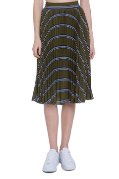 Shoptiques Product: Striped Pleated Skirt