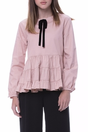 English Factory Velvet Bow Top - Product Mini Image