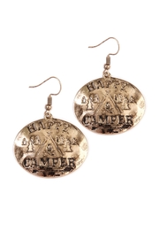 Riah Fashion Engraved Message Earrings - Product Mini Image