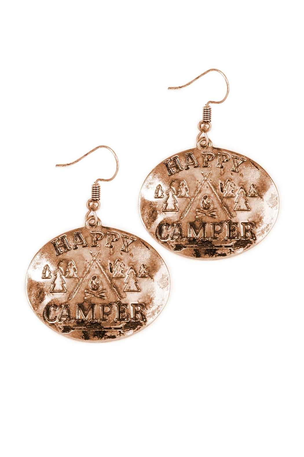 Riah Fashion Engraved Message Earrings - Front Cropped Image