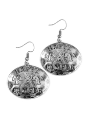 Riah Fashion Engraved Message Earrings - Front cropped