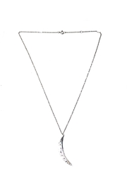 Lets Accessorize Engraved Moon-Charm Necklace - Product Mini Image