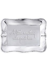 Beatriz Ball Engraved Pearl Tray With Great Love - Product Mini Image