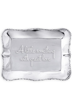 Beatriz Ball Engraved Pearl Tray With Great Love - Alternate List Image