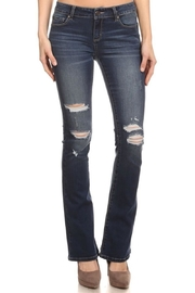 ENJean Bootcut Distressed Denim Pants - Product Mini Image