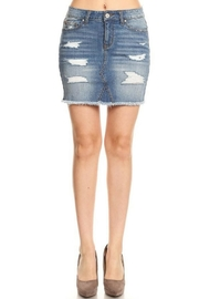 ENJean Distressed Denim Skirt - Product Mini Image