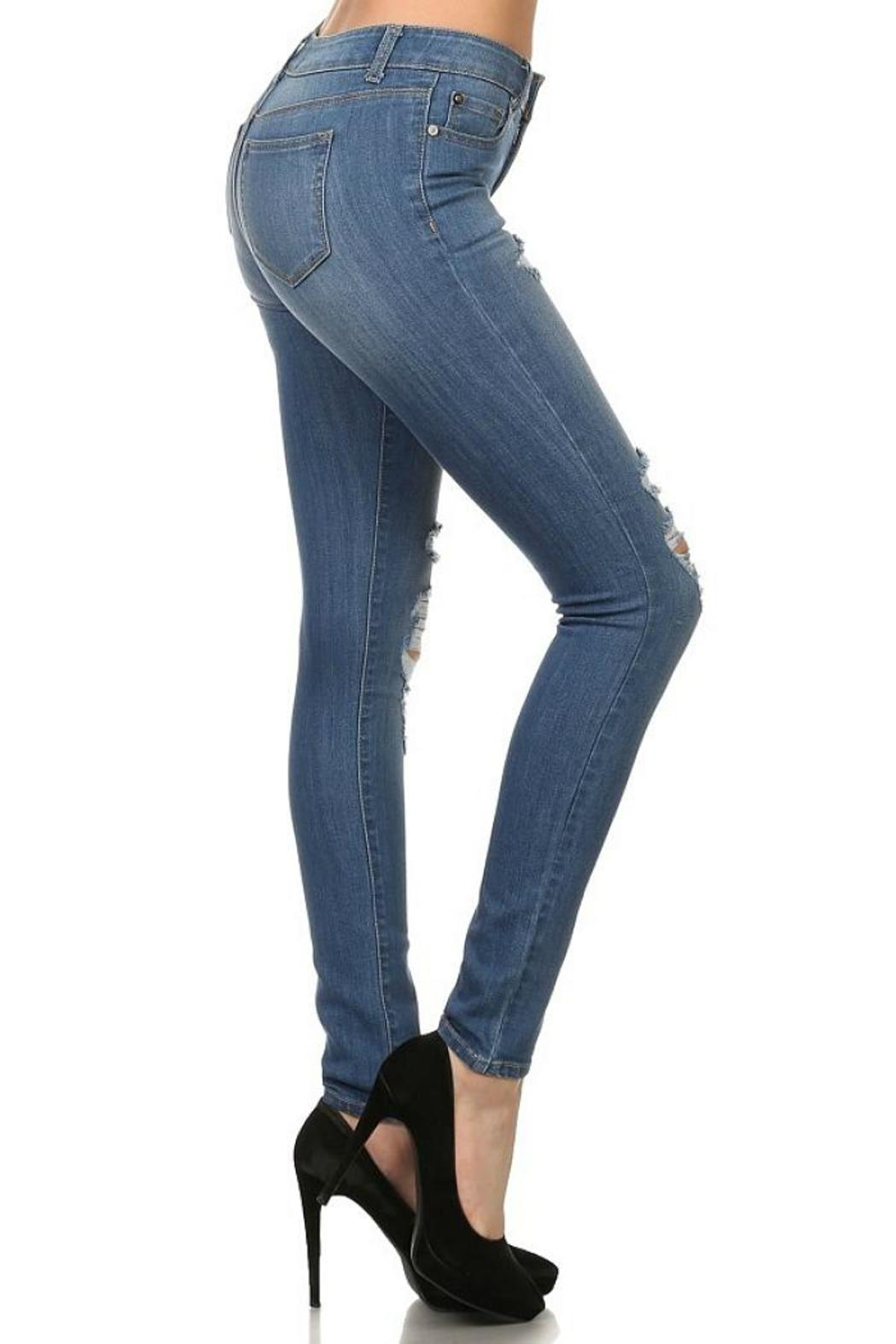 ENJean Holey Moley Skinnies - Side Cropped Image