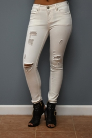 ENJean White Cropped Denim - Product Mini Image