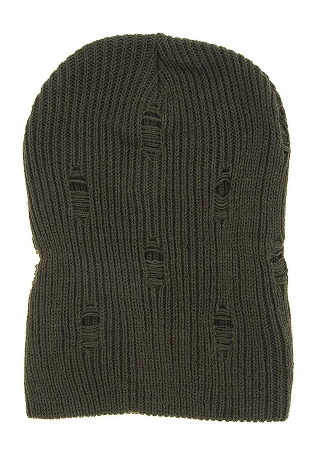 ENKYN Distressed Beanie - Front Cropped Image