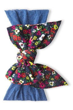 Shoptiques Product: Enormous Vibrant Ditsy Bow Headband