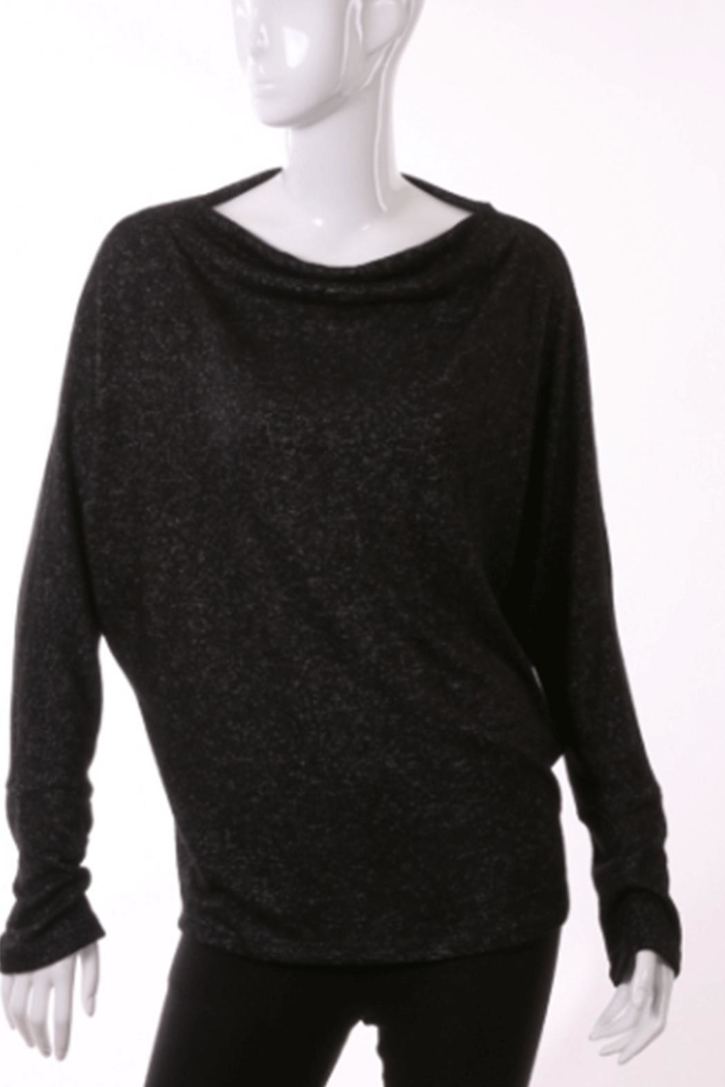 ENTI Brushed L/s Cowlneck - Front Cropped Image