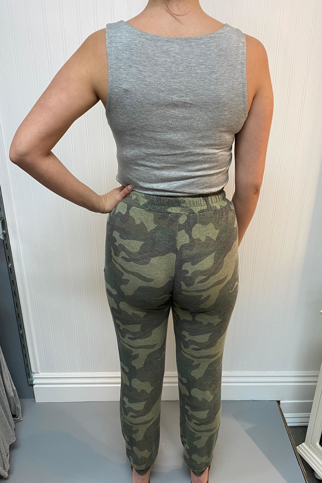 ENTI Camo Print Pants - Front Full Image