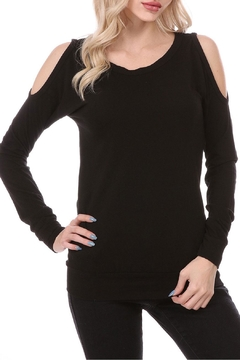 Shoptiques Product: Black Cold Shoulder Top