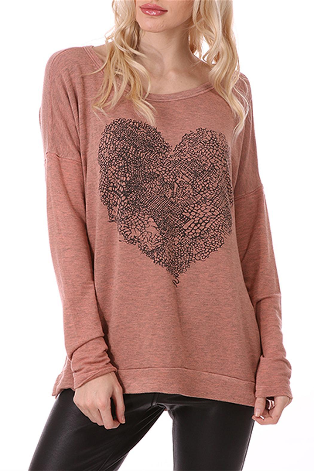 bce588831e7e2 ENTI Heart Sweater Top from California by Purseonality — Shoptiques
