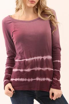 Shoptiques Product: Long Sleeve Tie Dye Top