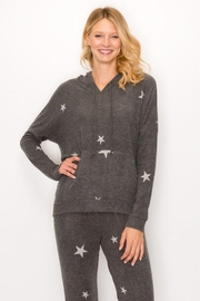 ENTI Star Print Hoodie - Front cropped
