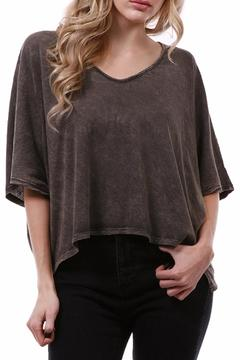 enti glamour Chocolate Cropped Top - Product List Image