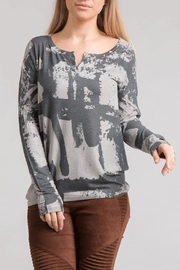 enti glamour Sublimated Henley Top - Product Mini Image
