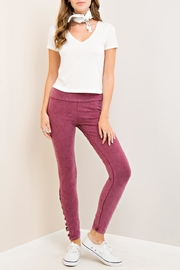 Entro Acid Cutout Leggings - Front cropped