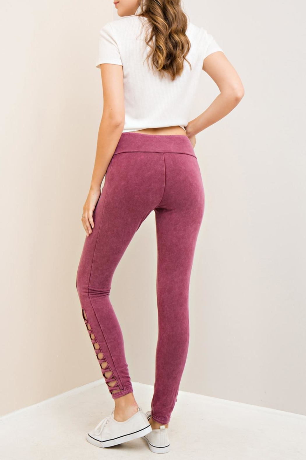 Entro Acid Cutout Leggings - Front Full Image