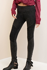 Entro Acidwashed Black Legging - Product Mini Image
