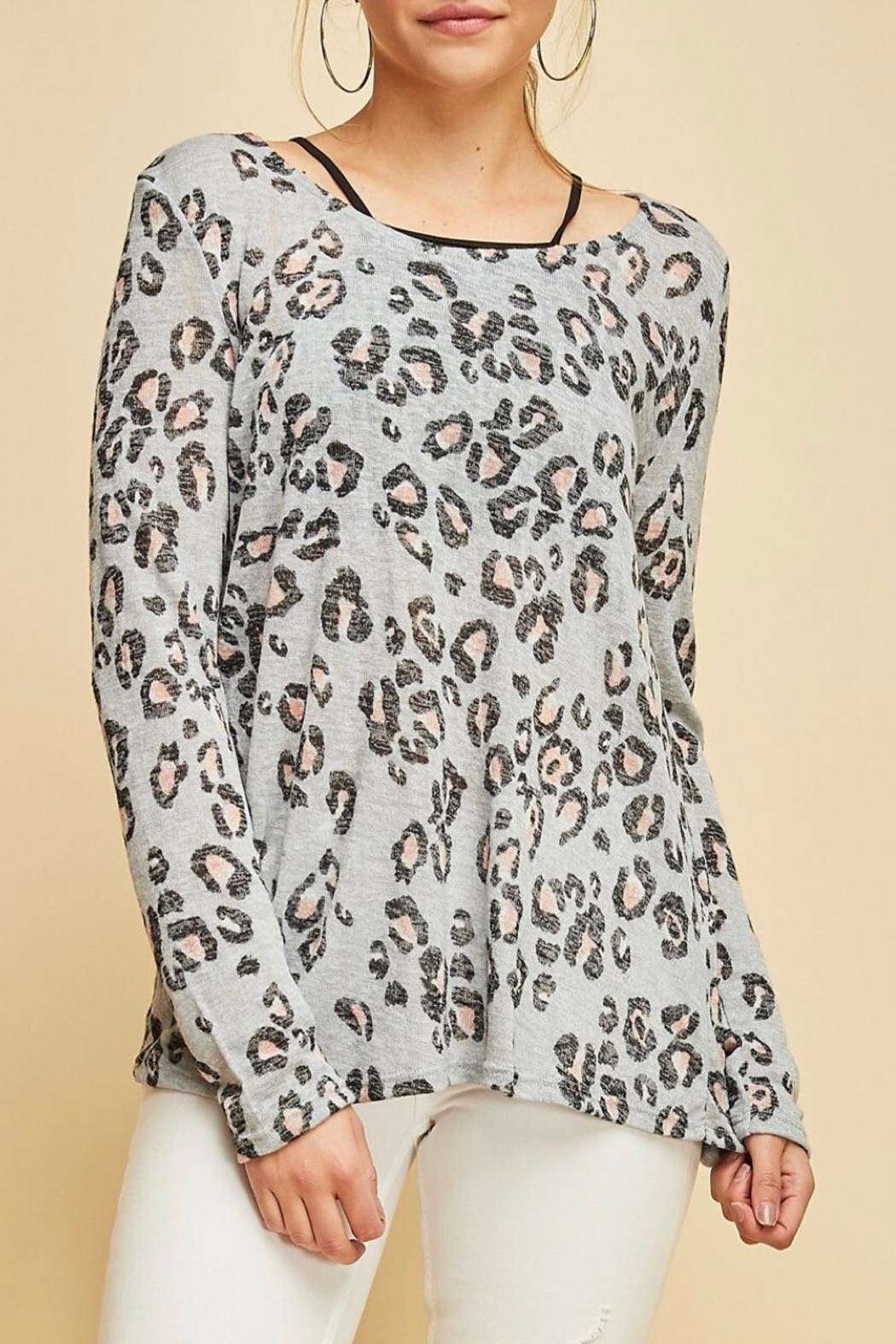 Entro Animal Print Top - Front Full Image