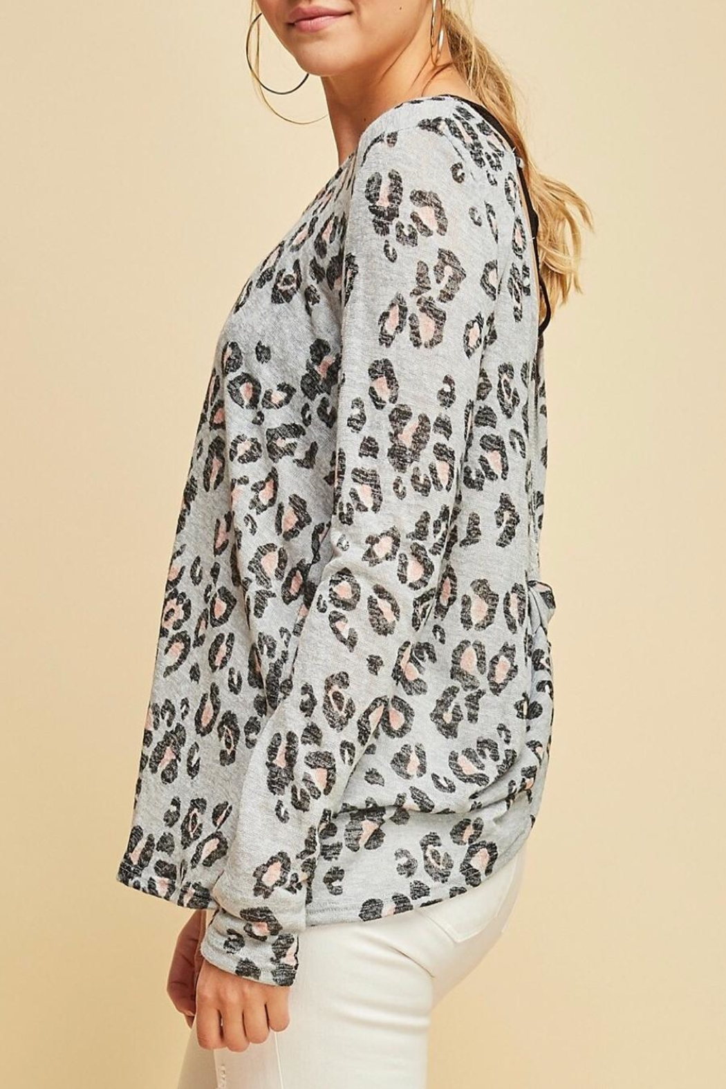 Entro Animal Print Top - Side Cropped Image