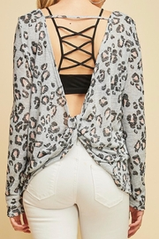 Entro Animal Print Top - Front cropped