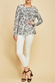 Entro Animal Print Top - Back cropped